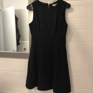 Structured classic black work dress